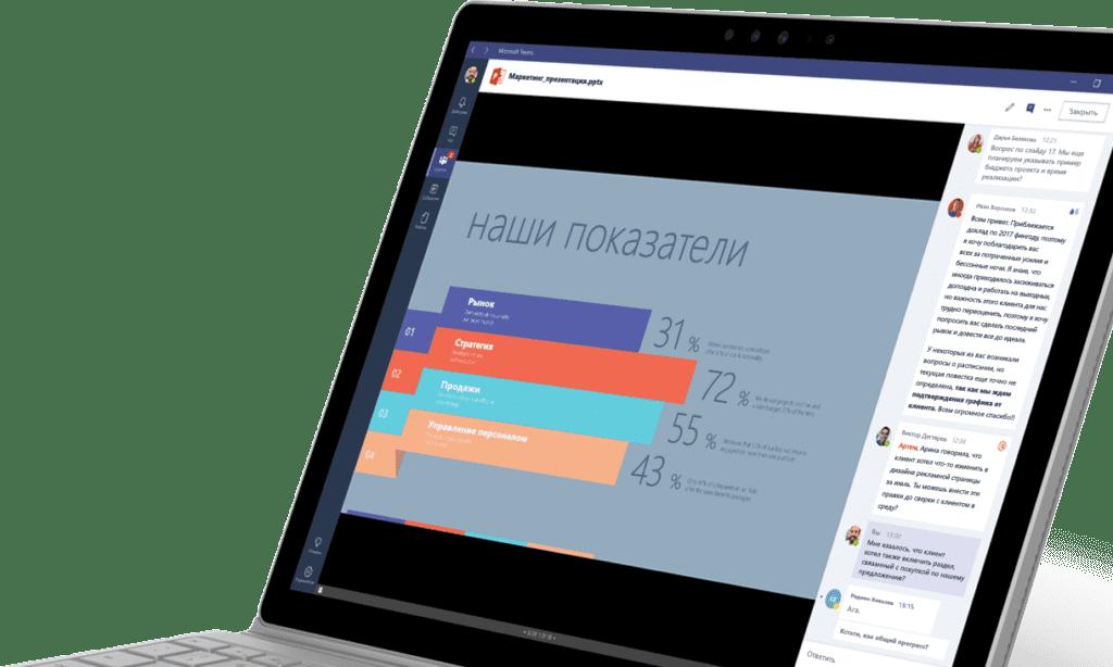 Рабочее пространство Microsoft Teams